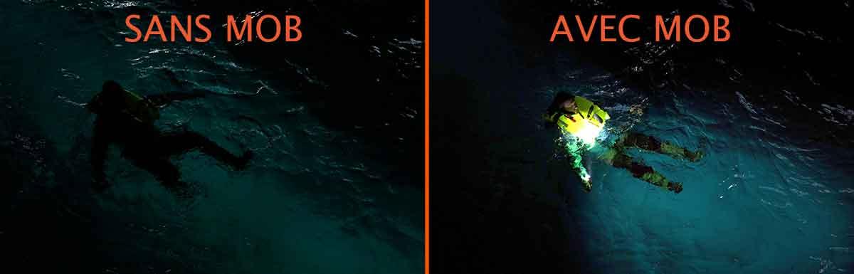 COMPARATIF homme à la mer sans et avec exposure marine Mob