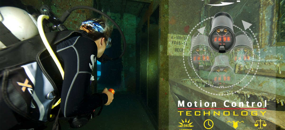 Exposure Marine - SUB M3 - lampe de plongée sous-marine - Motion control