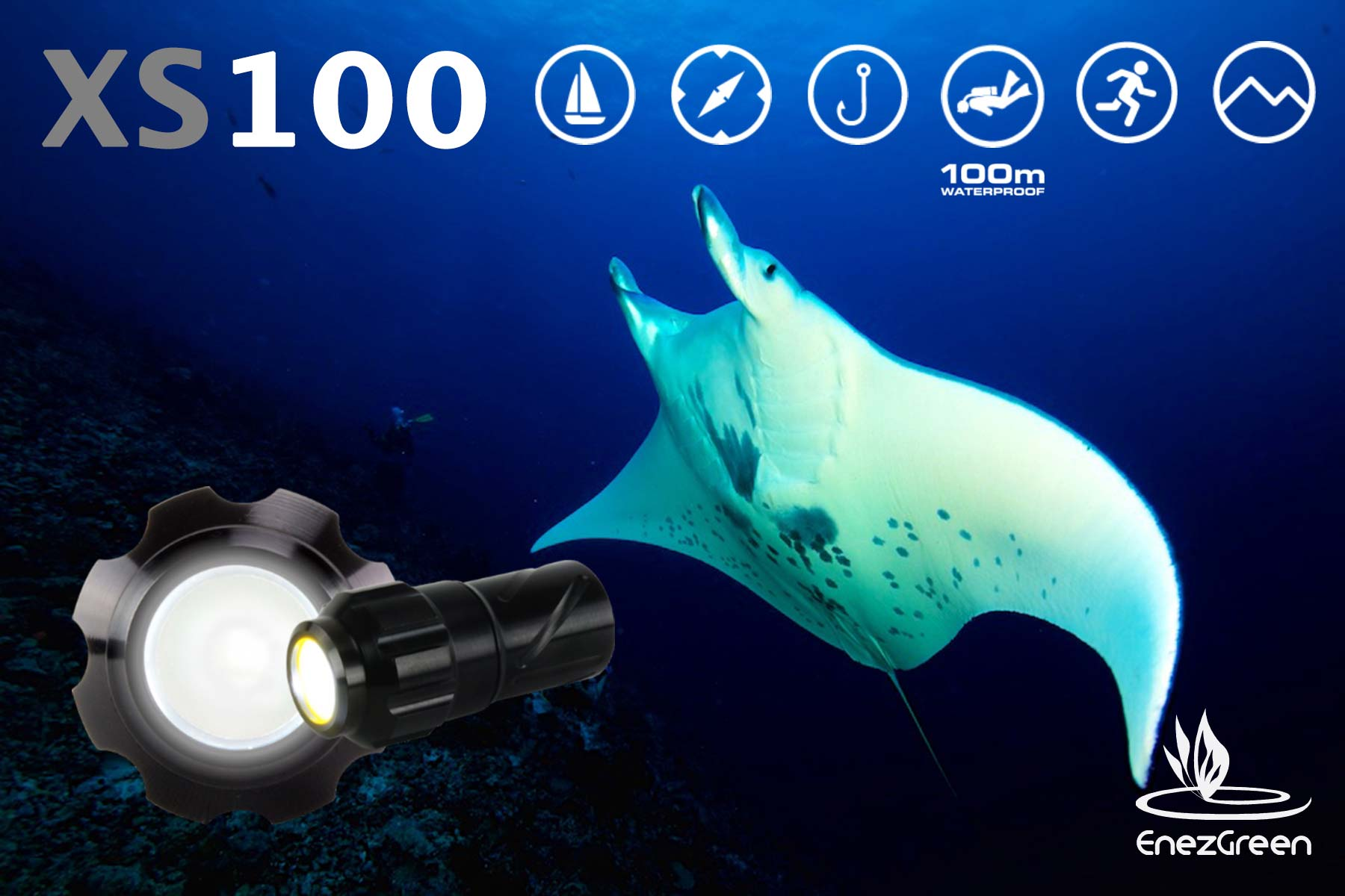 Mini lampe de plongée sous marine xs100 Exposure Marine